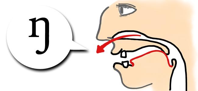 「ng」は1つの音、そして1つの発音記号