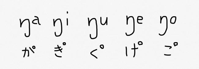 鼻濁音の「が・ぎ・ぐ・げ・ご」の音声記号