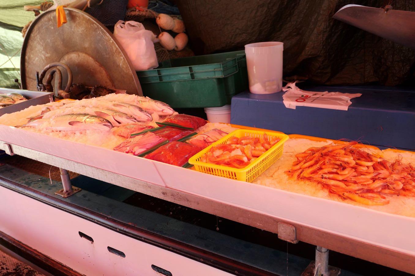 フィッシャーマンズ・ワーフで売っている魚たち
