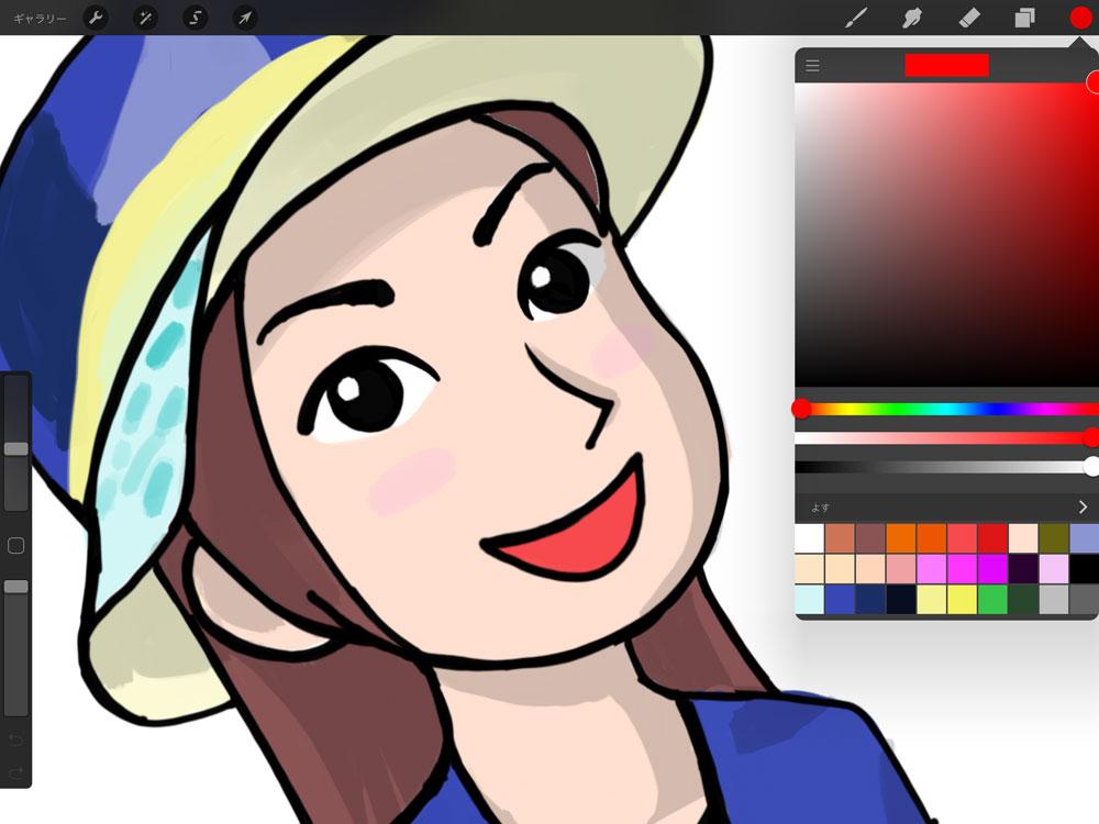 スタイラスペンでiPadにイラストを描く