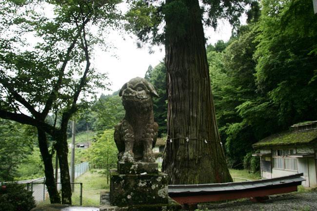 杉王神社の狛犬