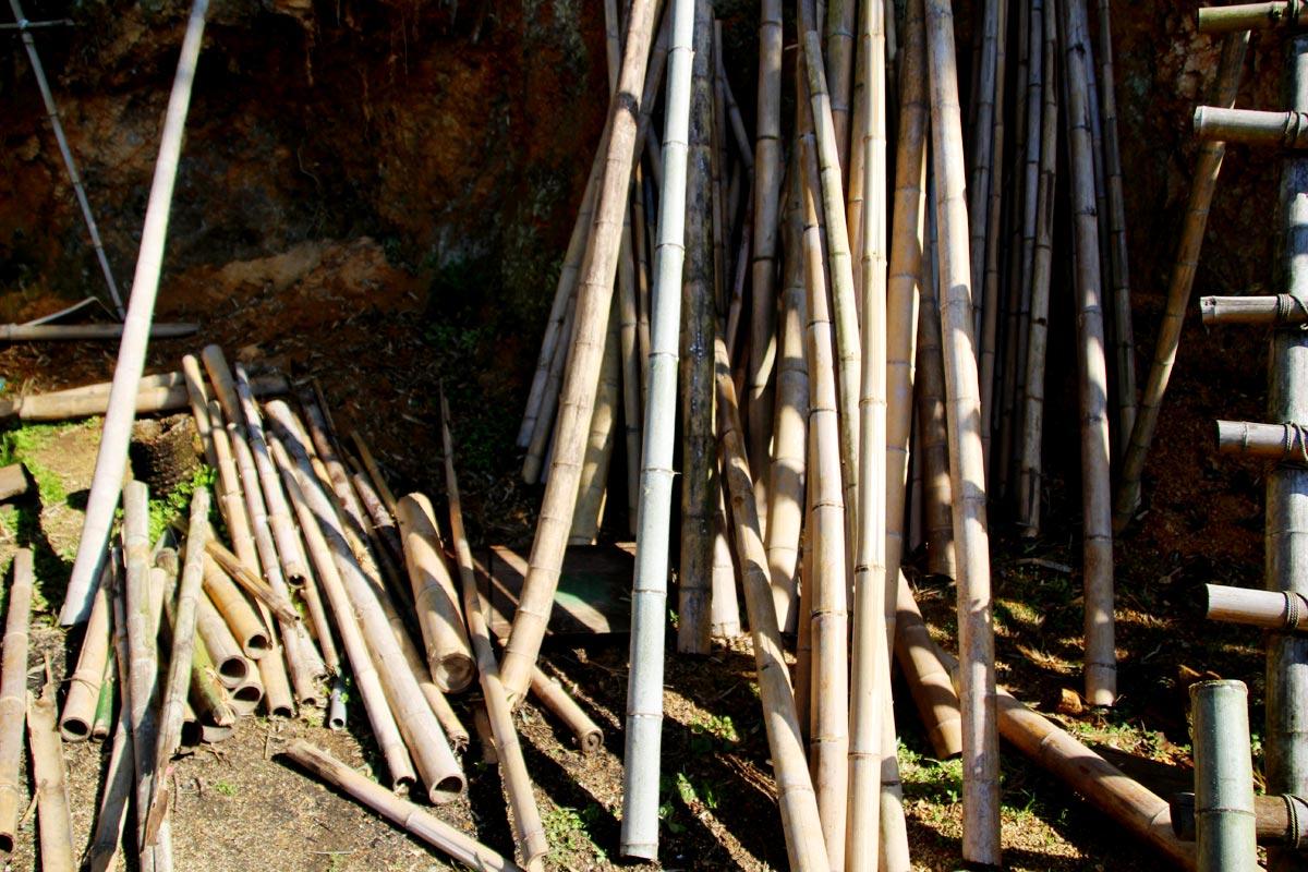 「かぐや姫プレイパーク」では竹が豊富なので、いろんなものに活用