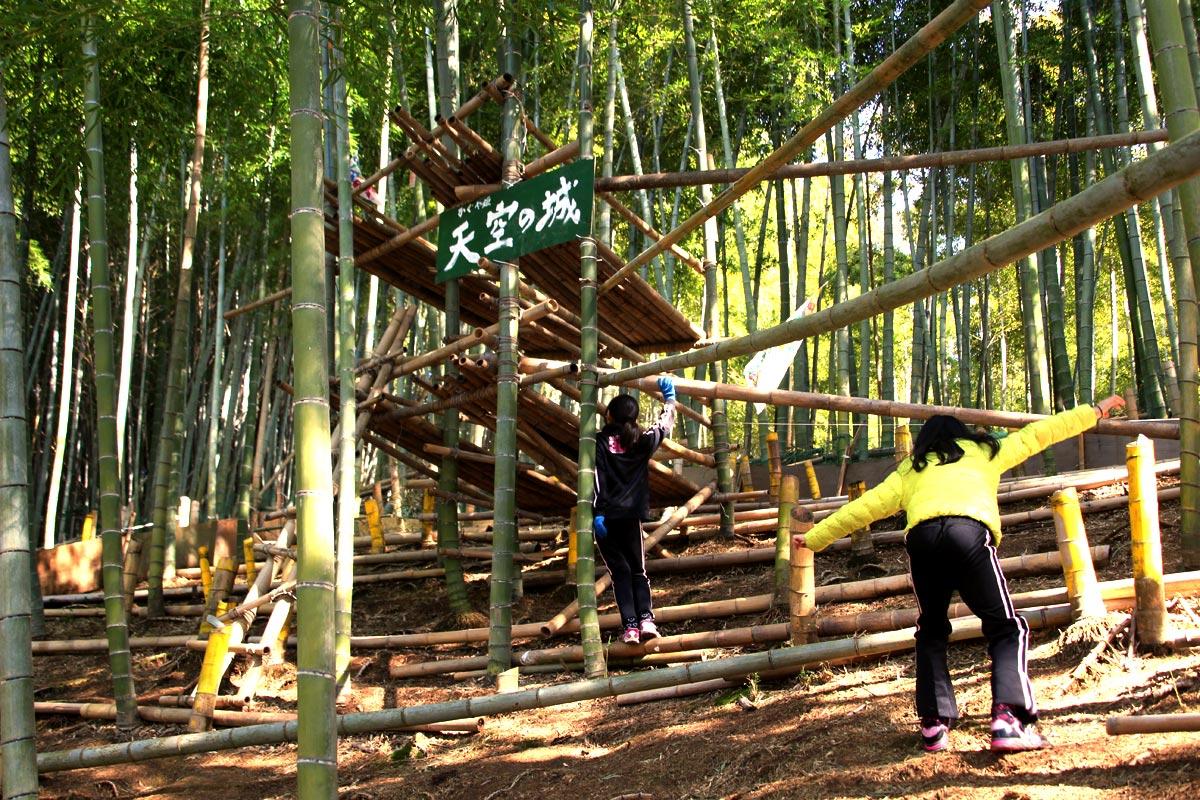 かぐや姫プレイパークで遊ぶ子どもたち