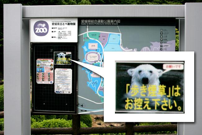 動物園までの坂道は禁煙