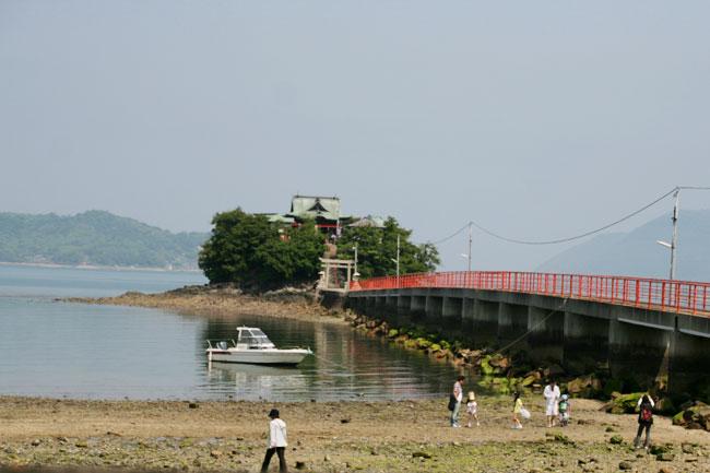 津嶋神社は小さい島にあります