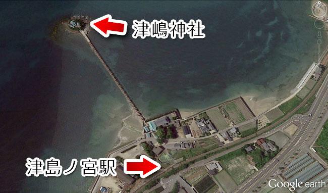 津島ノ宮駅は津嶋神社の参拝だけの目的で存在しています