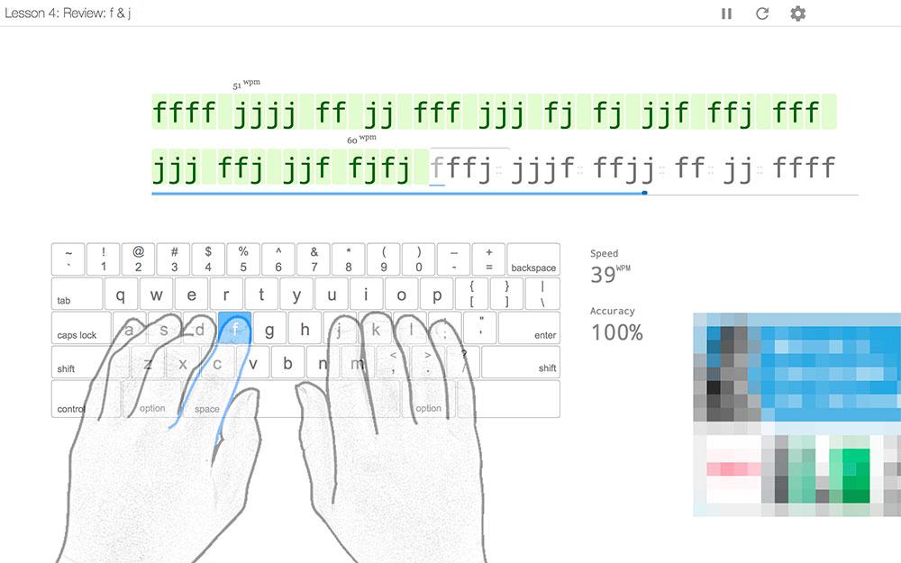 ひたすら「F」と「J」だけの練習!