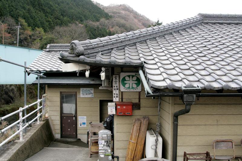 谷川米穀店の入り口近く