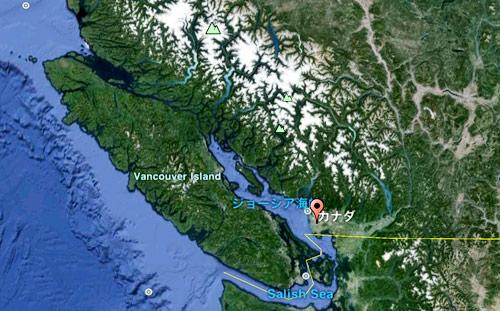 Google Earthで見たバンクーバー