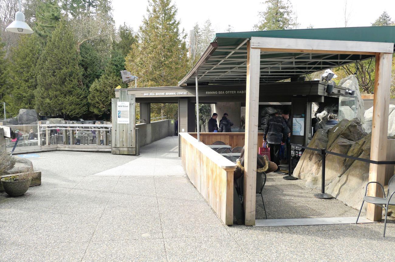 バンクーバー水族館の外のコーナー