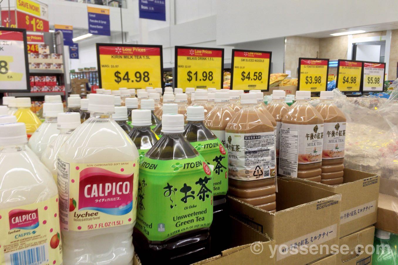 日本のジュースが並ぶ