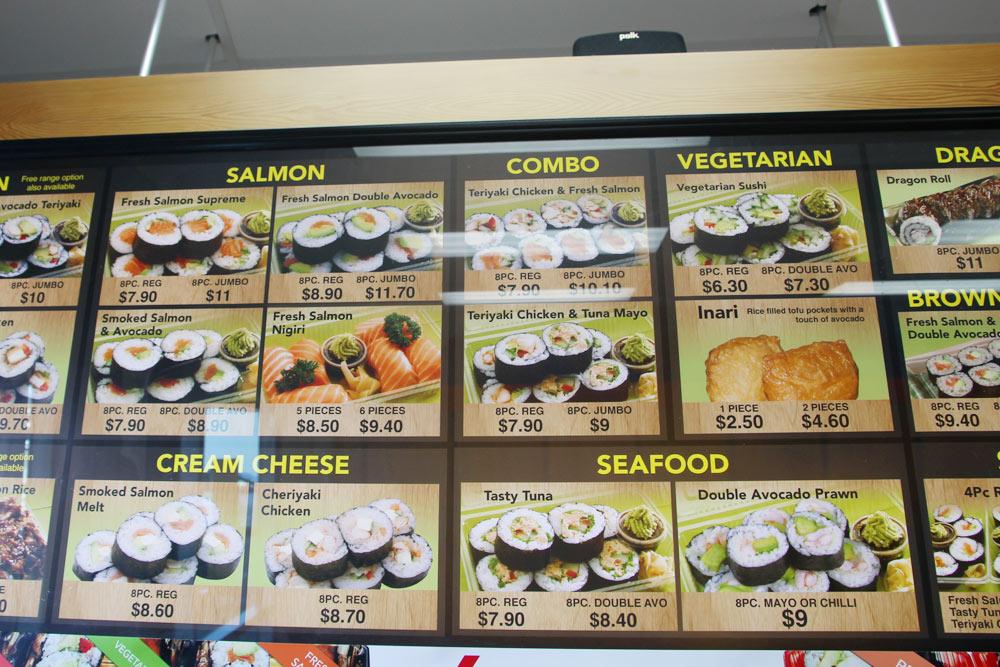 ニュージーランドの寿司レストラン