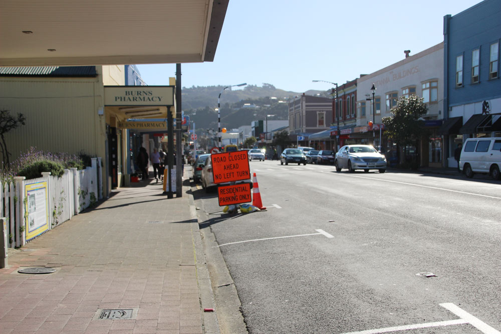 ニュージーランドの町並み