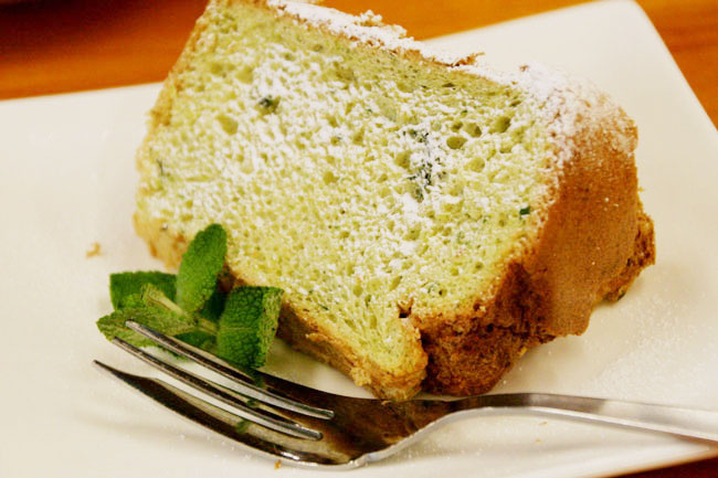 季節の野菜入りシフォンケーキ