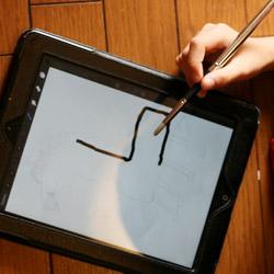 iPadで絵を描く
