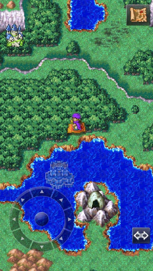 湖に沈んでいる「天空城」が見える