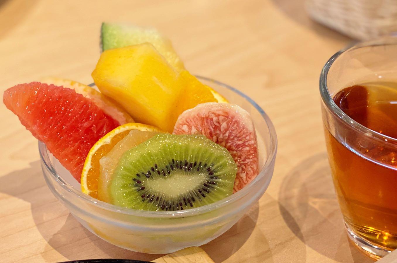 フルーツが美味しい