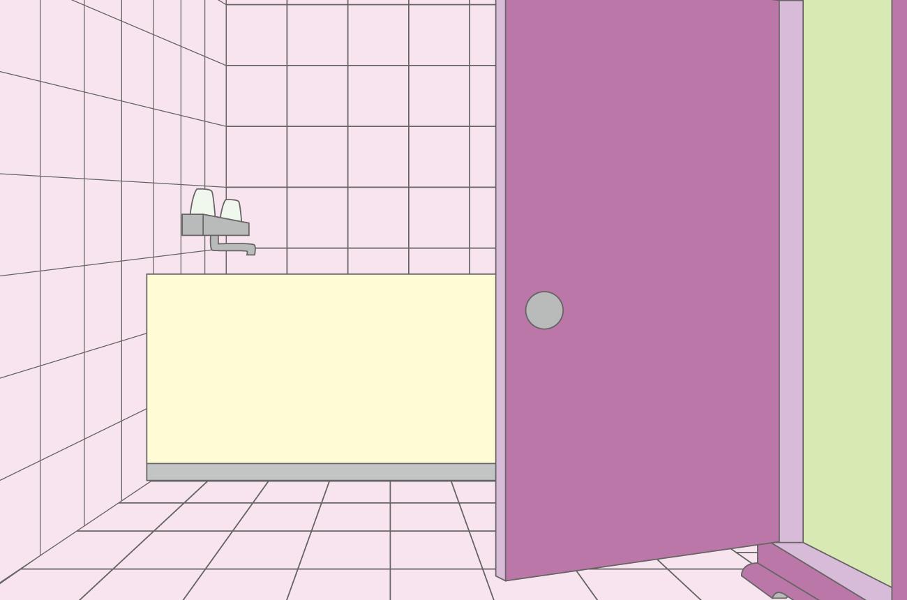 のび太が「どこでもドア」でしずかちゃんのお風呂に突撃