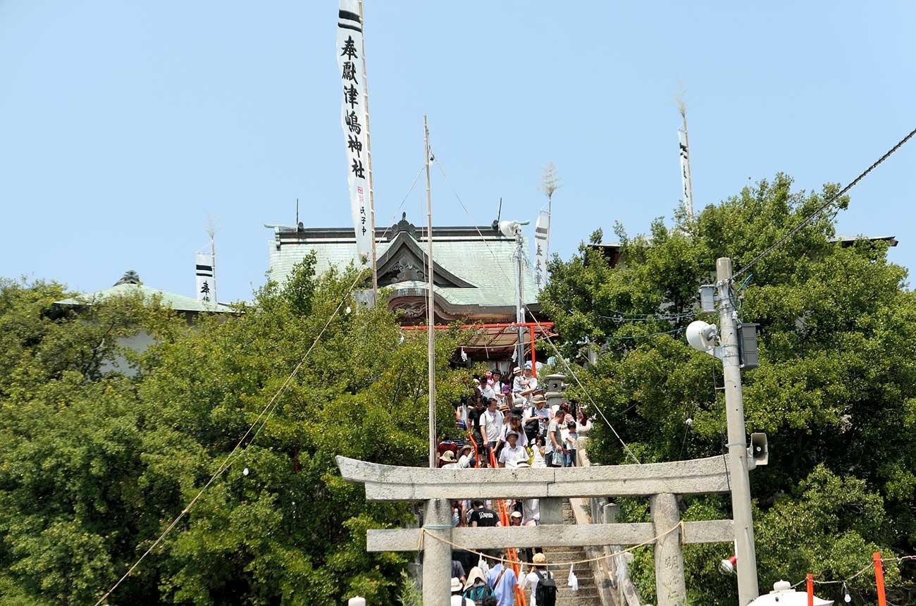 津島神社が近づいてきた