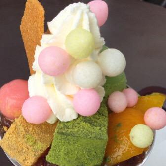 こんぴらさんのカフェ神椿(資生堂パーラー)! パフェが激かわいくて美味しい!(完全禁煙)