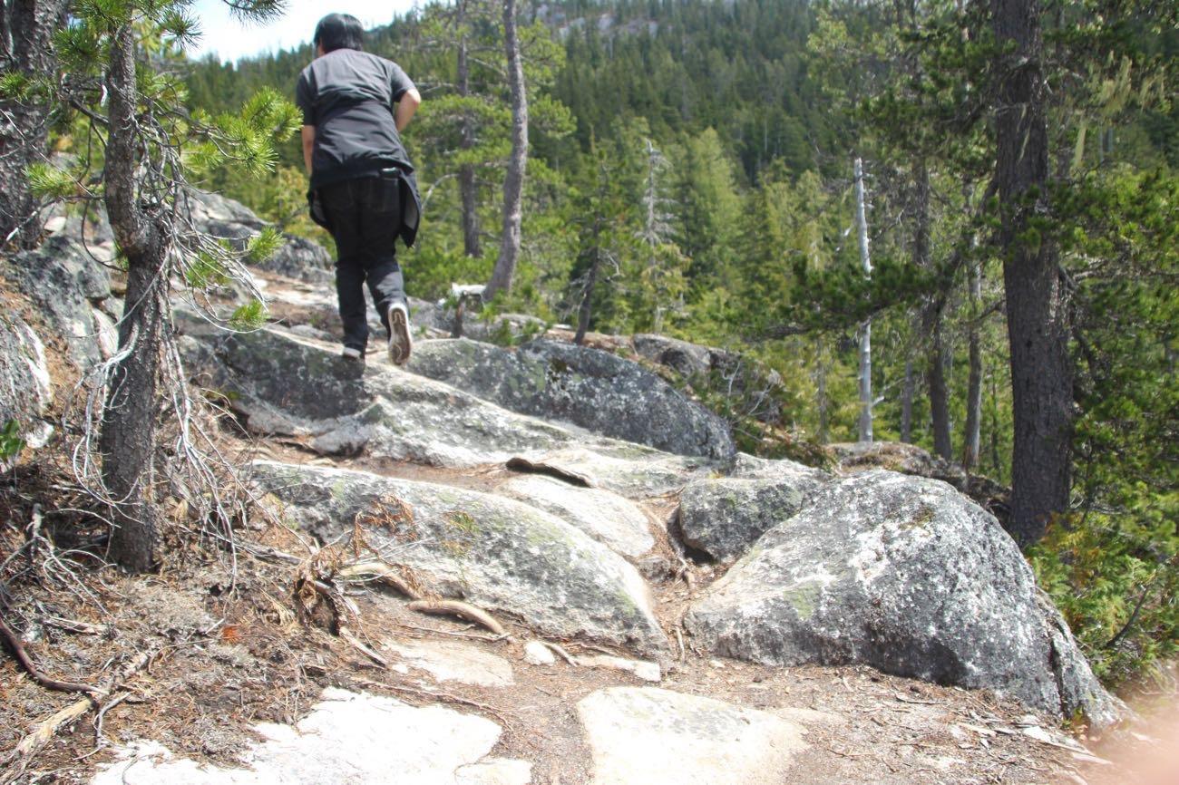 まあまだ岩山を登っていくよ!