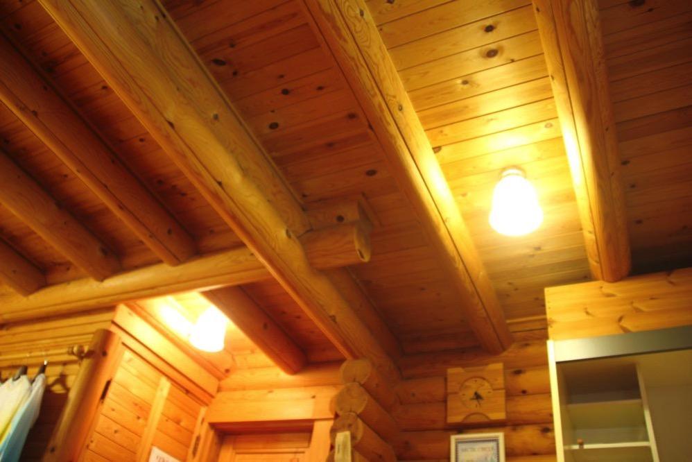コテージの天井