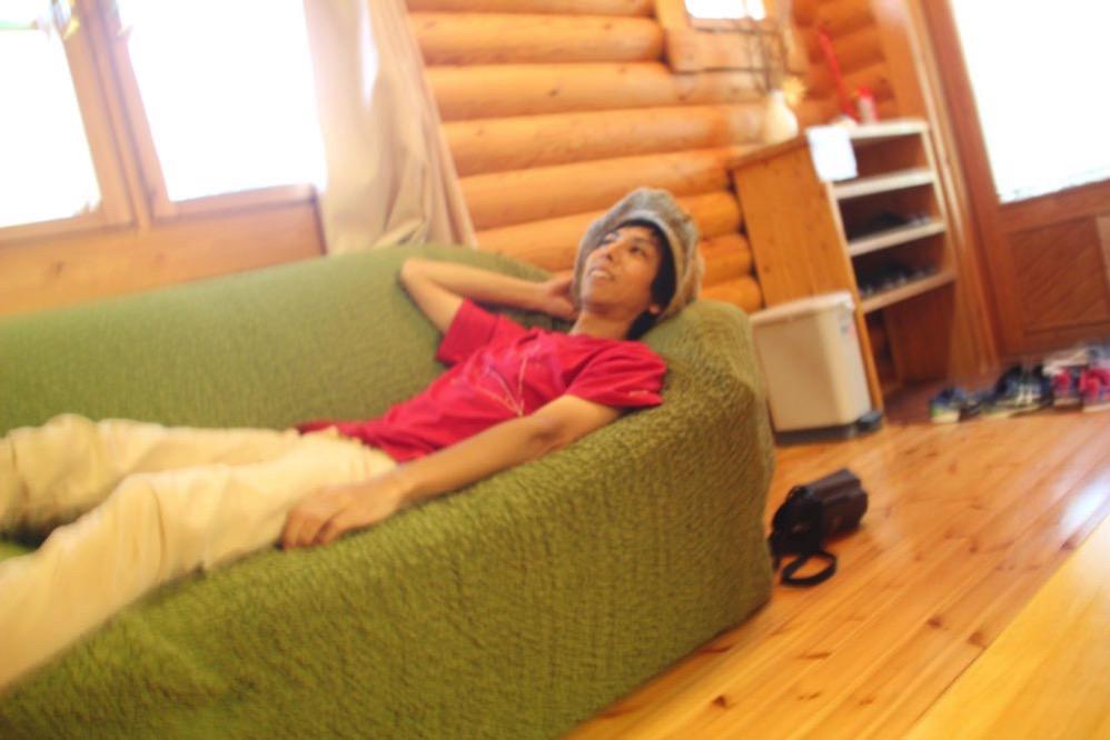 ソファーでゆったりできます