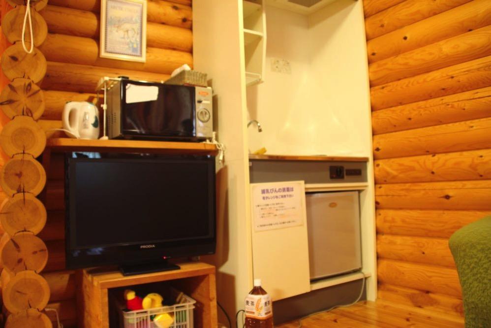 コテージ内のキッチン