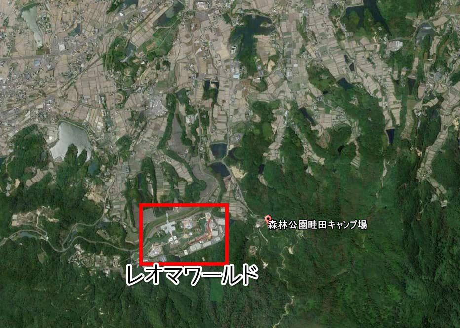 畦田キャンプ場はNEWレオマワールドの近く