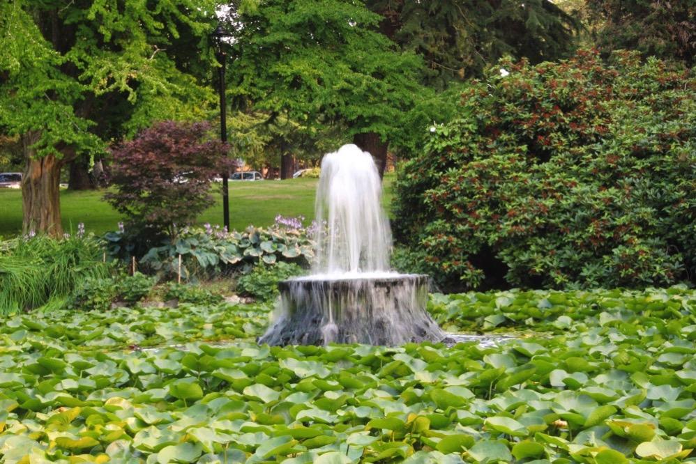 ビーコンヒル・パーク内の噴水