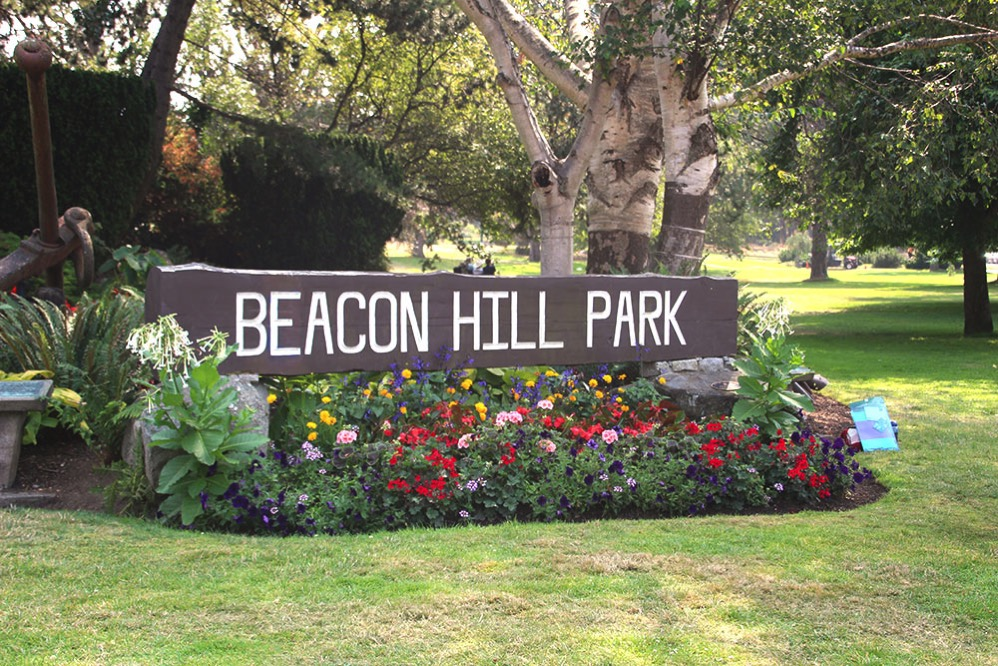 Beacon Hill Parkと書いた看板があります