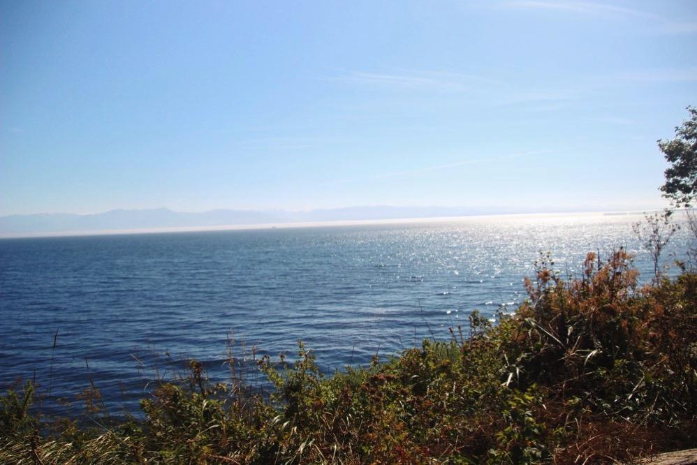 ビーコンヒルパークの向こう側には海が!