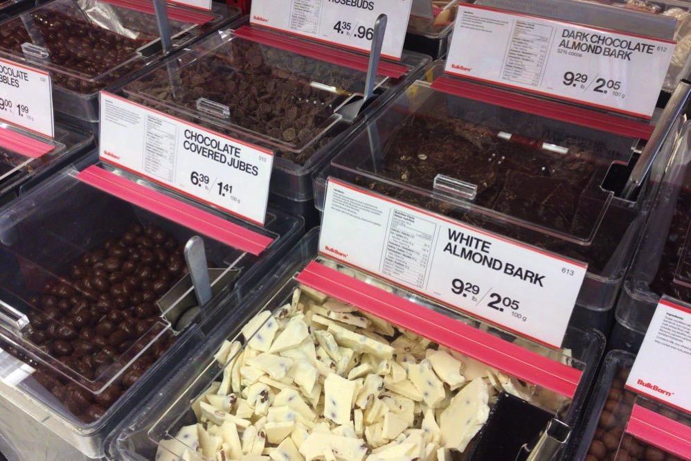 チョコレート系のお菓子が豊富