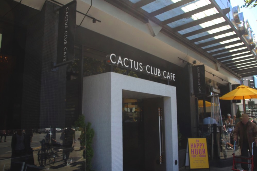 Cactus Club Cafe の入り口