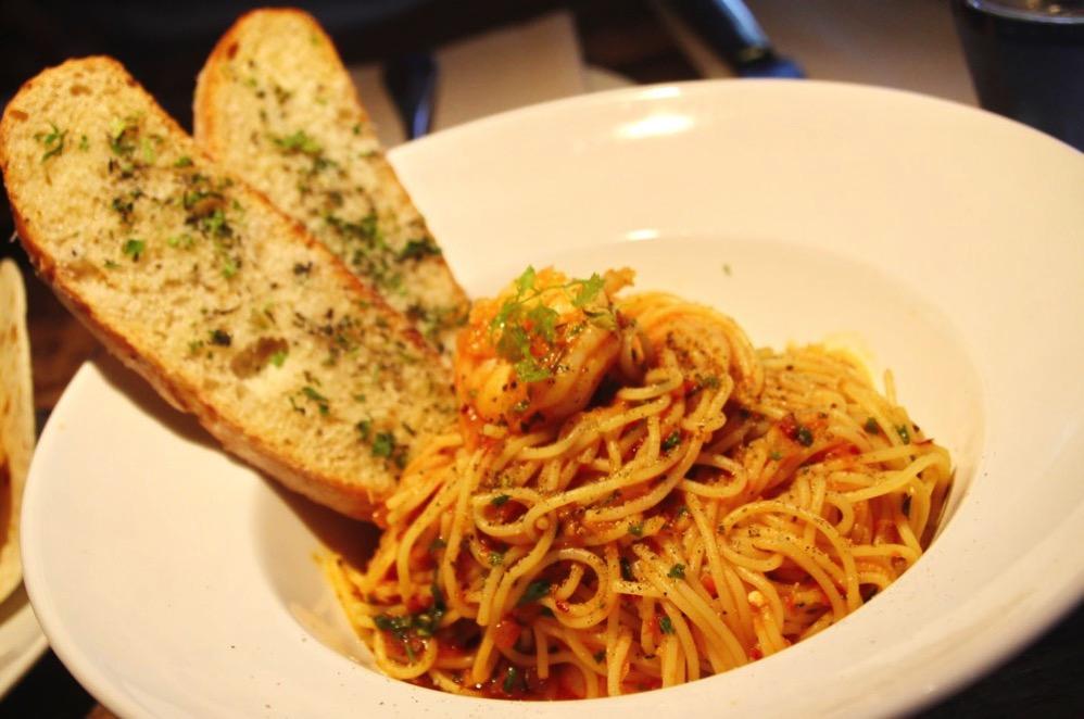 「Prawn Spaghettini(エビのスパゲッティーニ)」