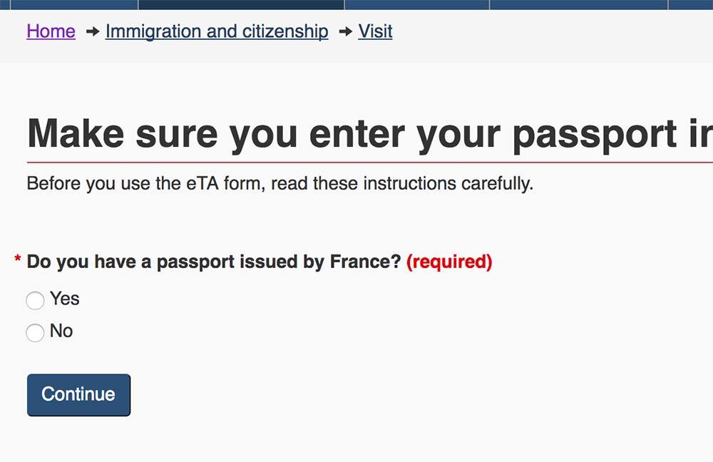フランスで発行されたパスポートを持っていますか?