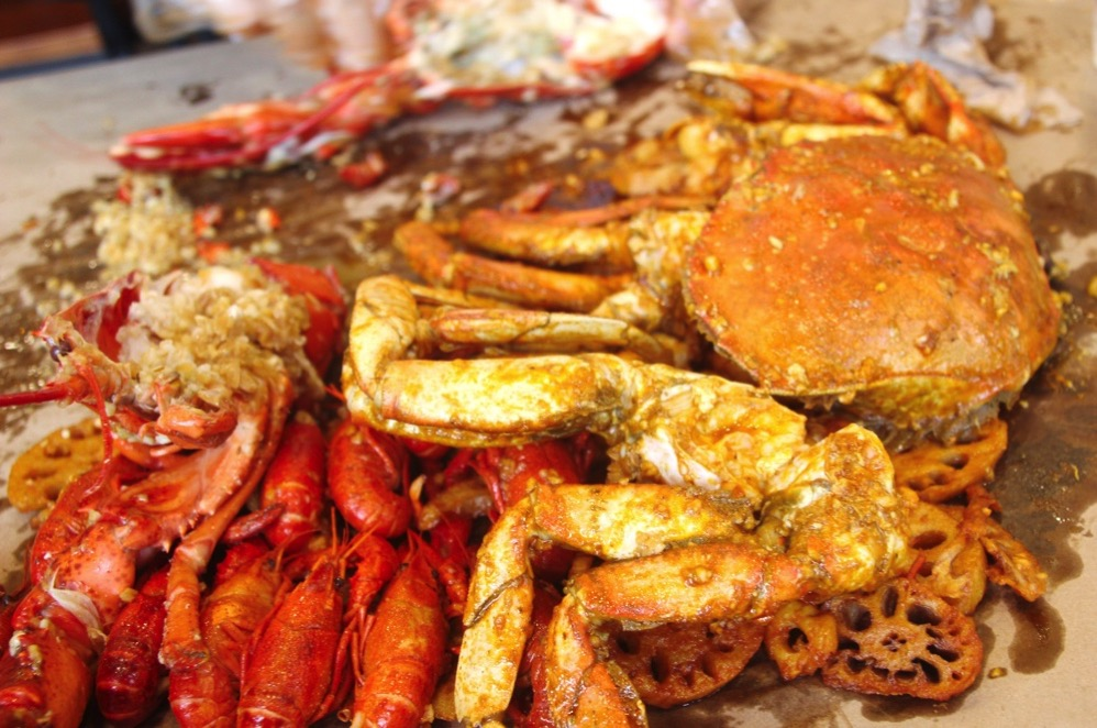 ロブスターとDungeness Crab(アメリカイチョウガニ)
