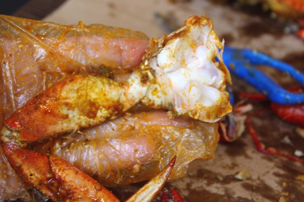 Dungeness Crab(アメリカイチョウガニ)の足