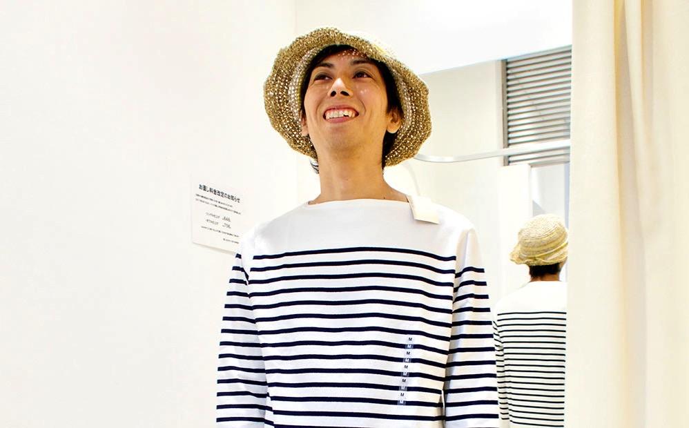 ヨスのトレードマーク「しましま」の服