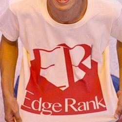 うぉー!!「Edge Rank」のTシャツが届いたぞー! #EdgeRankBloggers