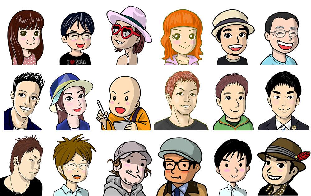 わたしの描いた似顔絵イラストたち