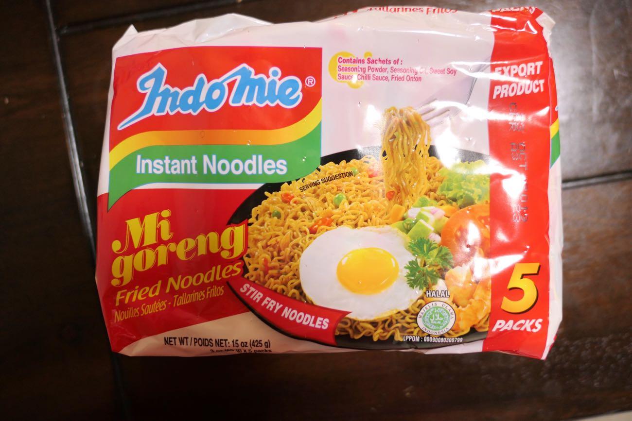 「Indomie」の5パック入り