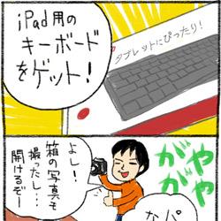 iPad用のBluetoothキーボード(一体型ではない)を買ったよ!