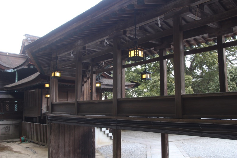 三穂津姫社と金刀比羅宮をつなぐ南渡殿