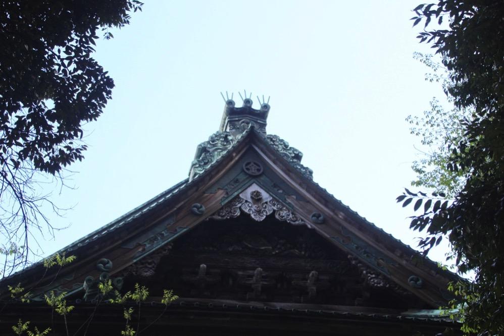旭社の屋根