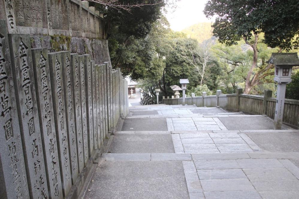 旭社から神椿への階段