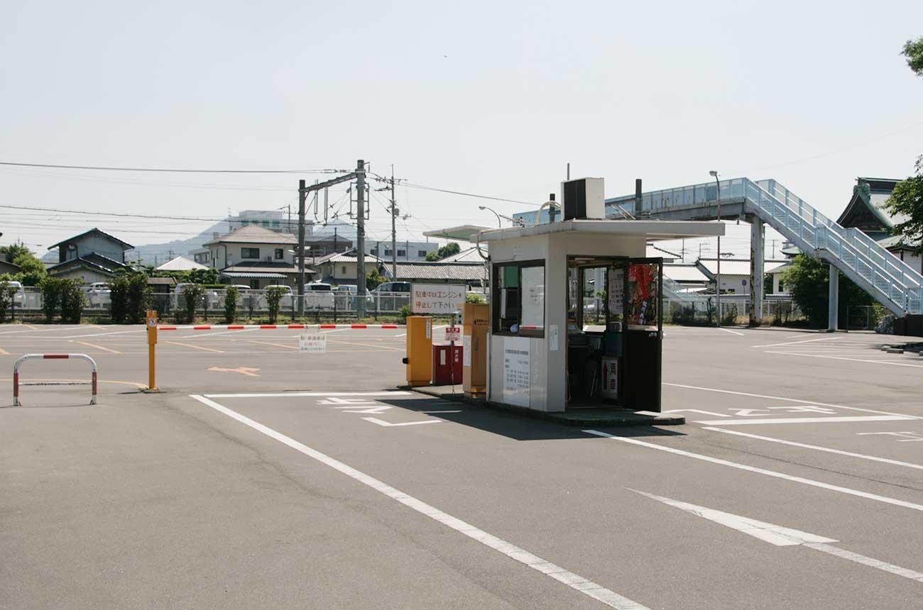 琴平町営の駐車場