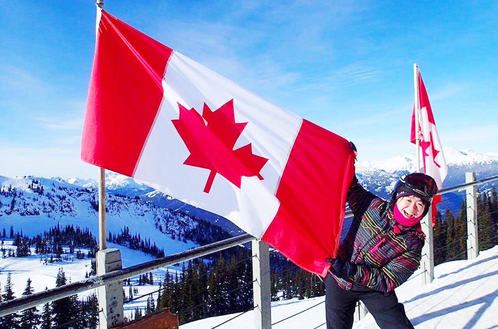 カナダにて