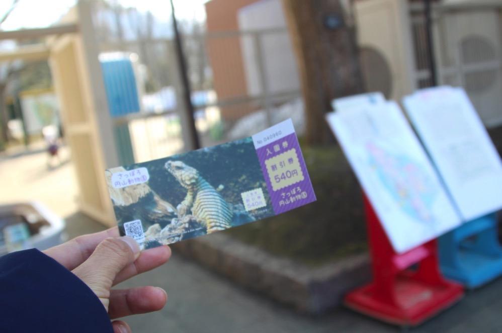 円山動物園のチケット