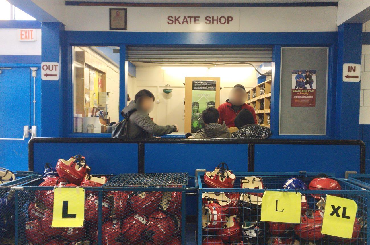「Skate Shop」のところがシューズのレンタル